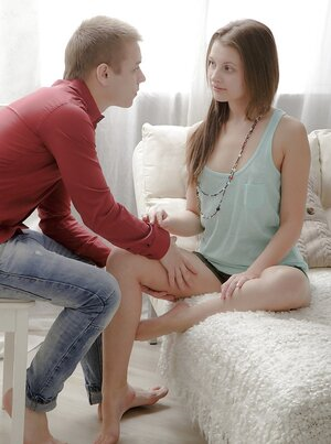 Babe thinks man loves her but in fact he just wants to bang naive babe