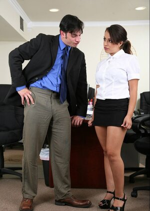 After work lad has secret sex encounter with enjoyable Latina worker