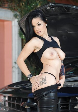 Katrina Jade is a hot brunette whore who can fix her car if it's broken